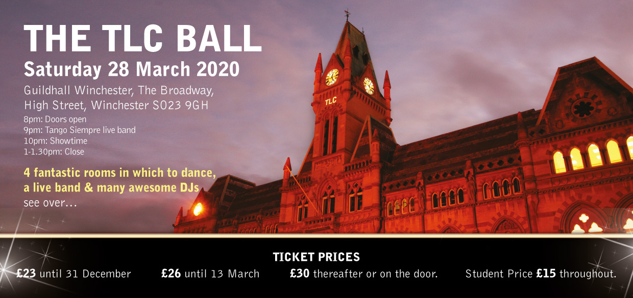 TLC Ball 2020 flyer front