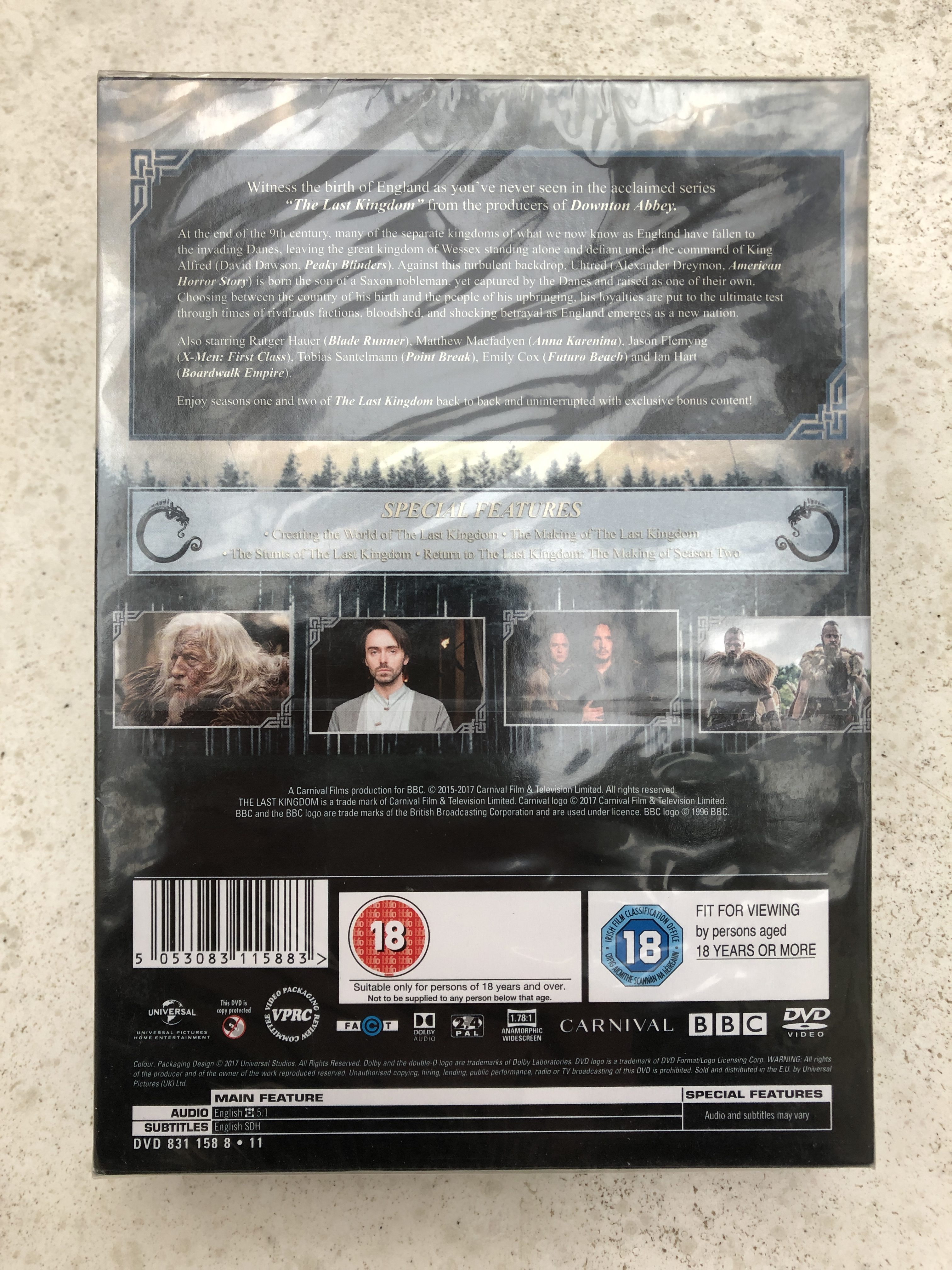 Last Kingdom DVD back
