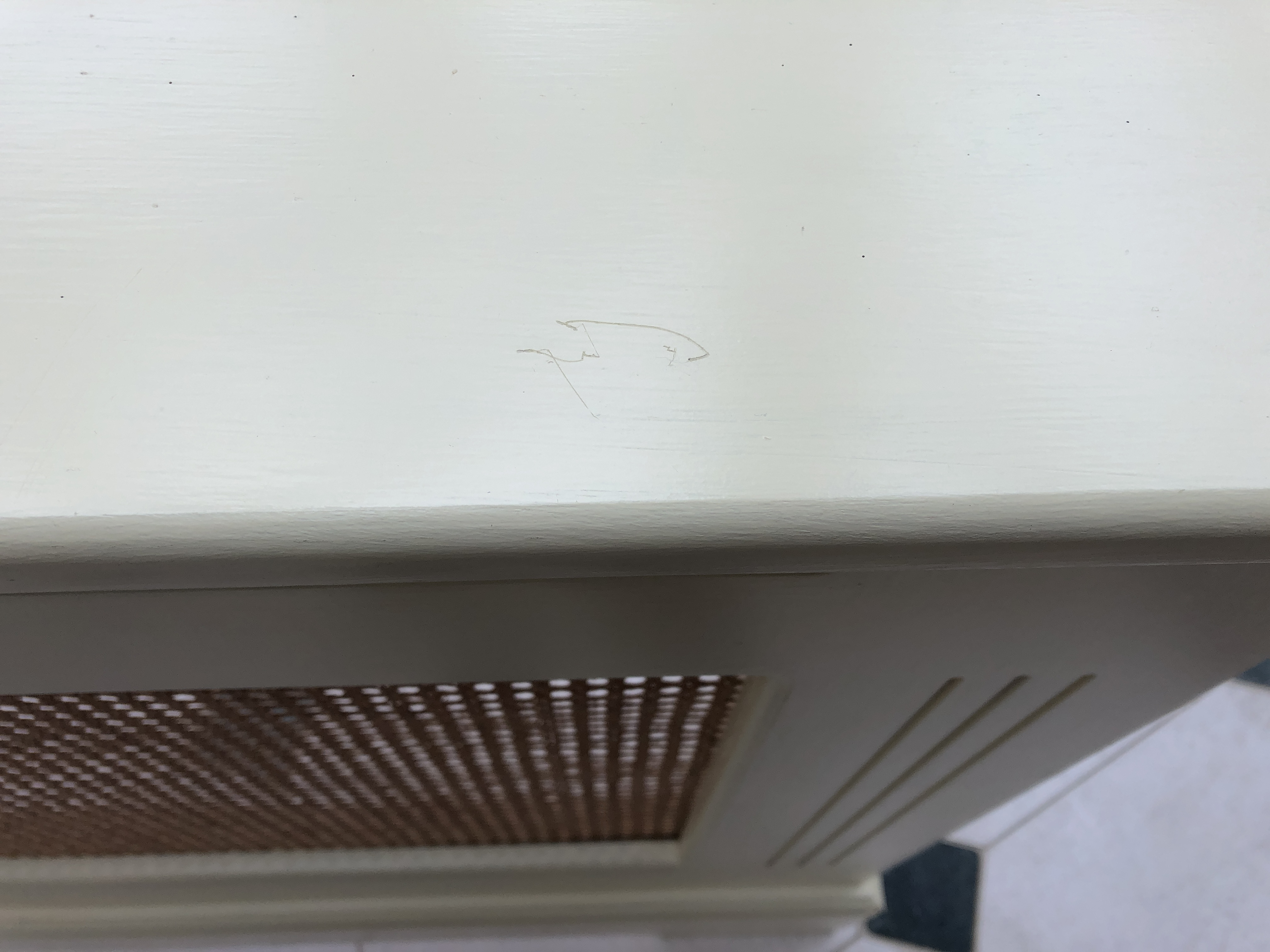 radiator cover scratches