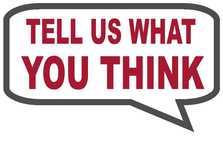 Tell us what you think survey