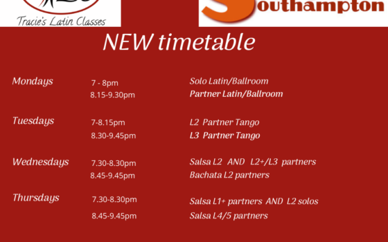 New Timetable for August